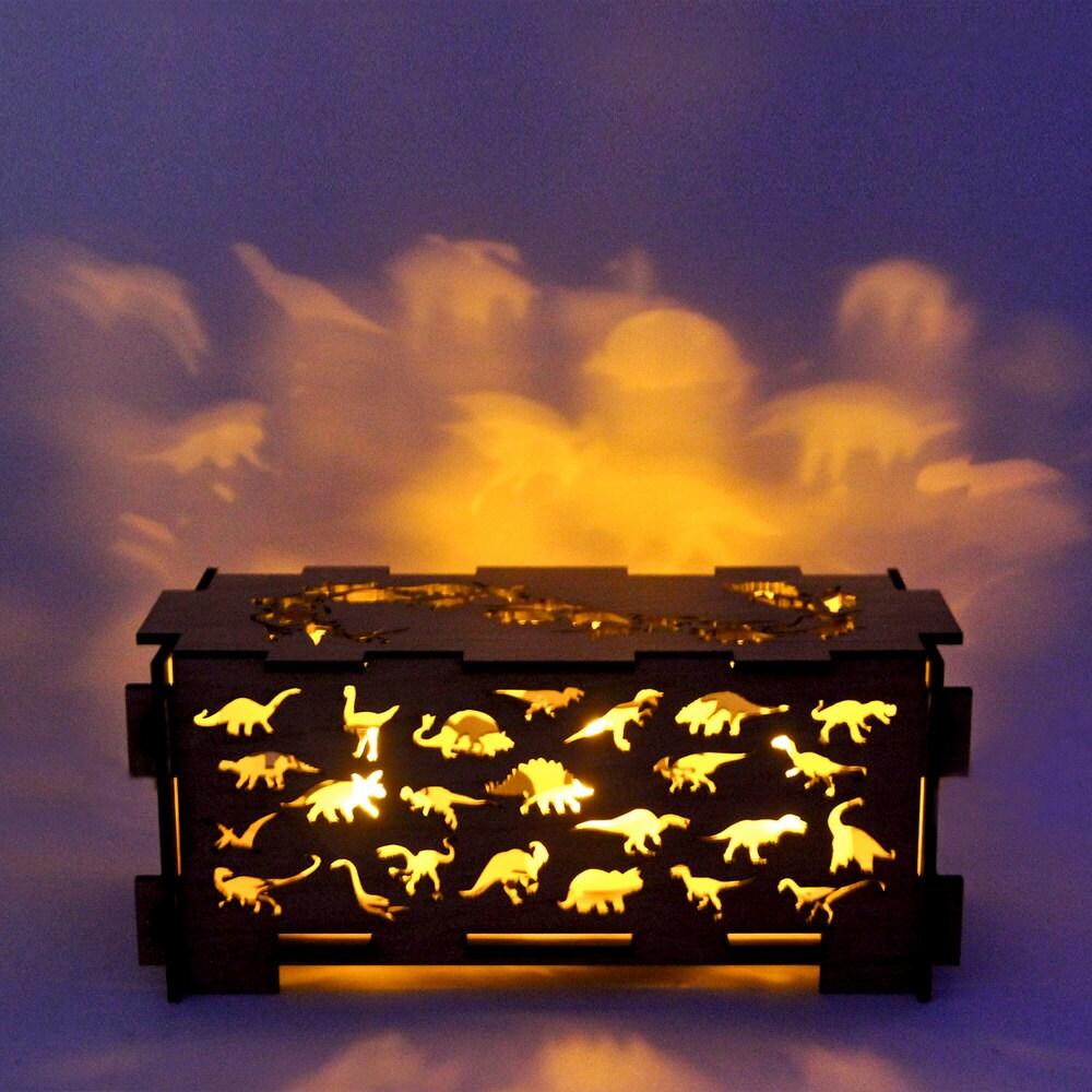Items Similar To Dinosaur Wood Children 39 S Night Light Box