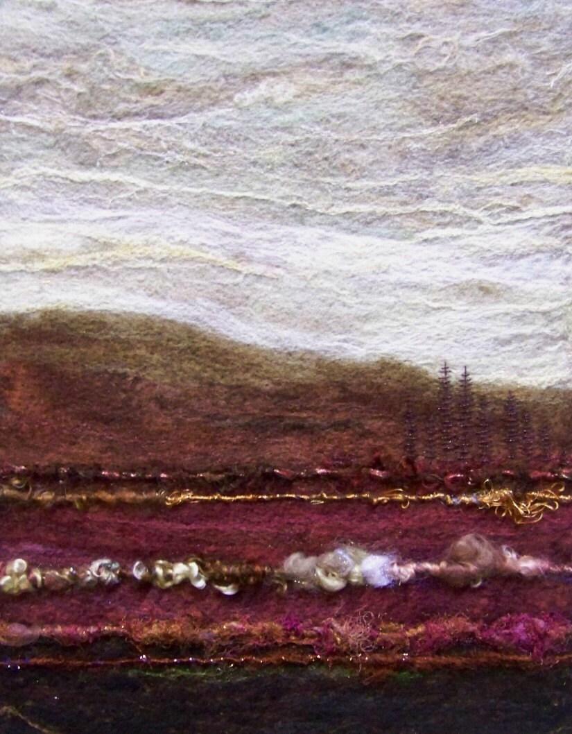 No.576 Rose Valley - Needlefelt Art XLarge