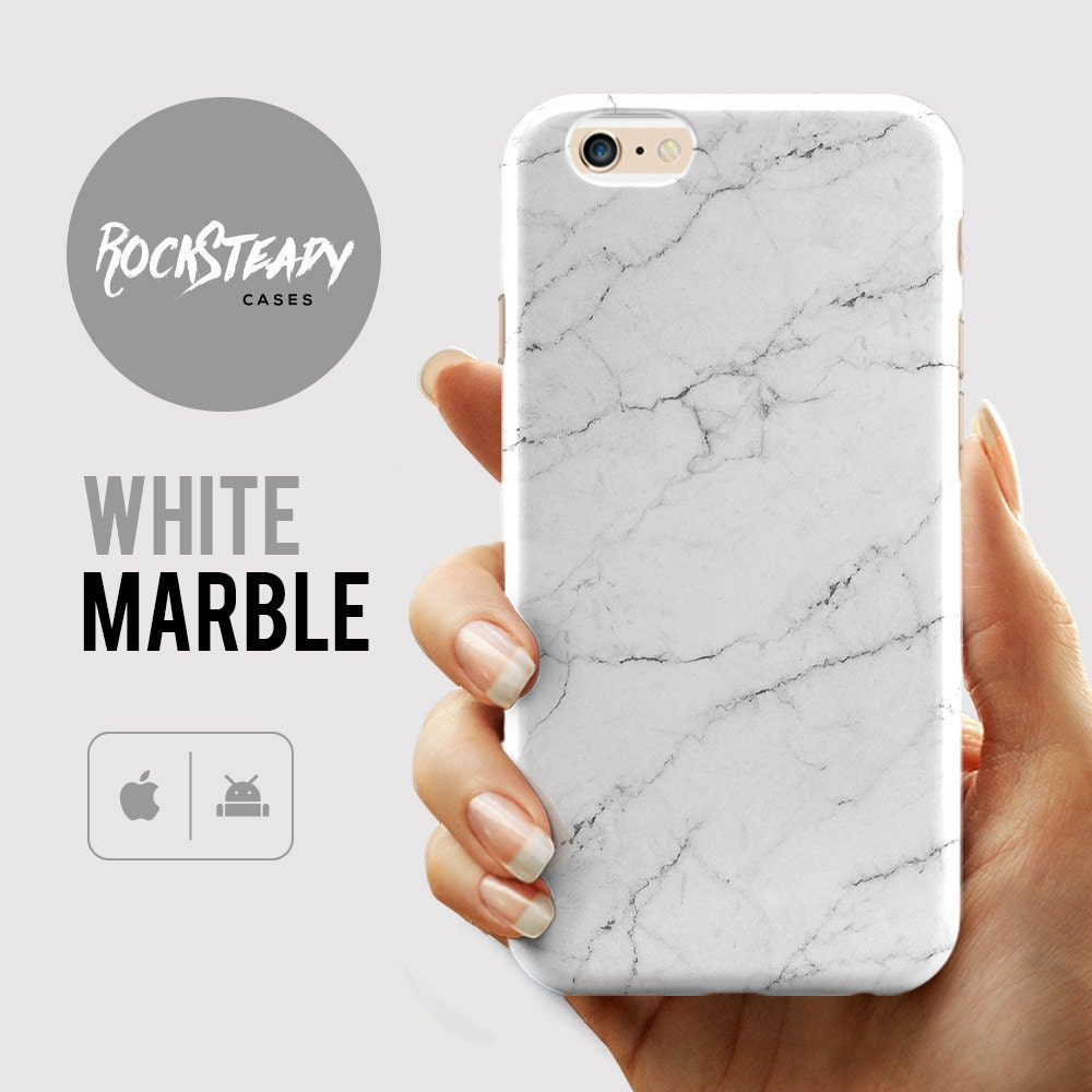 White Marble Phone case iPhone 7 case 7 Plus Cover 6 6s Case SE 5S 5C Case Samsung Galaxy S7 S6 S5 S4 Cell Phone Case