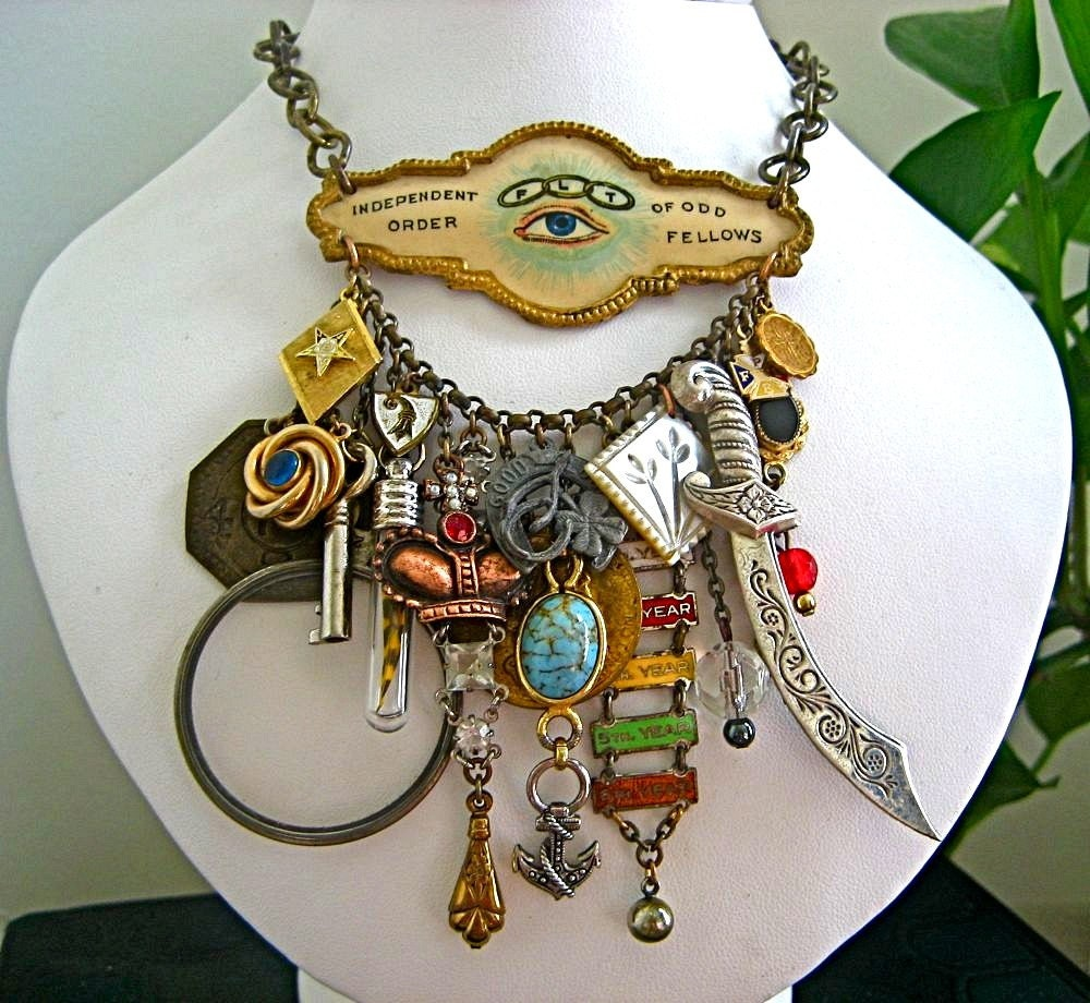 odd fellows emporium statement charm necklace by t8designs on Etsy from etsy.com