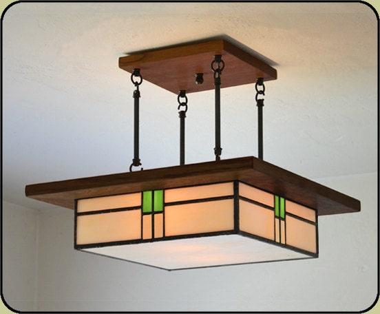 arts and crafts style light fixture by missionstudio on etsy. Black Bedroom Furniture Sets. Home Design Ideas