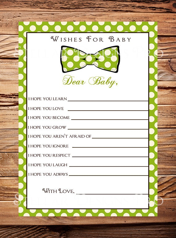 dot well wishes card instant download baby wishes card baby shower