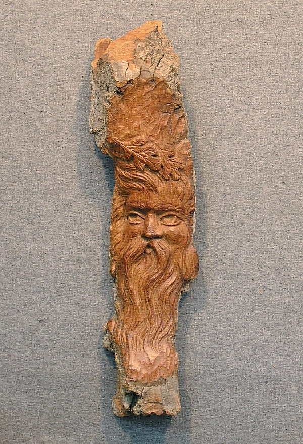 Carved cottonwood bark wood spirit by cahvah on etsy