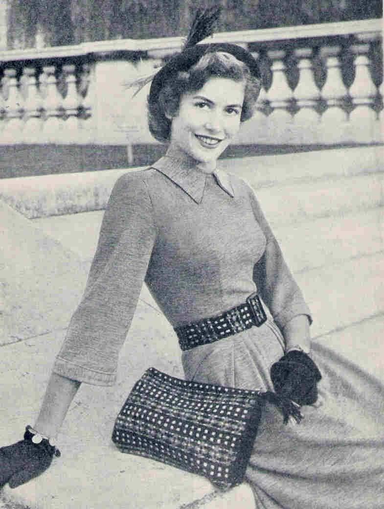 Items similar to 1940s Fair Isle Bag and Belt Vintage Knitting Pattern pdf di...