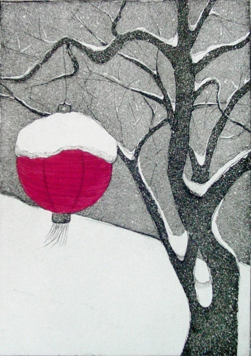 Winter (Original Intaglio Print)