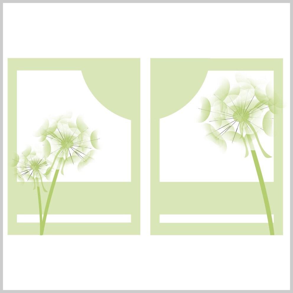 Dandelion Duet prints