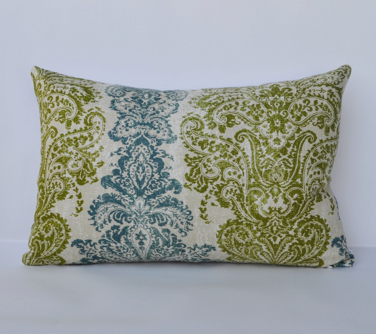 Teal Green Decorative Pillows : Decorative Pillows 12x18 teal green distressed by Palaceorhut