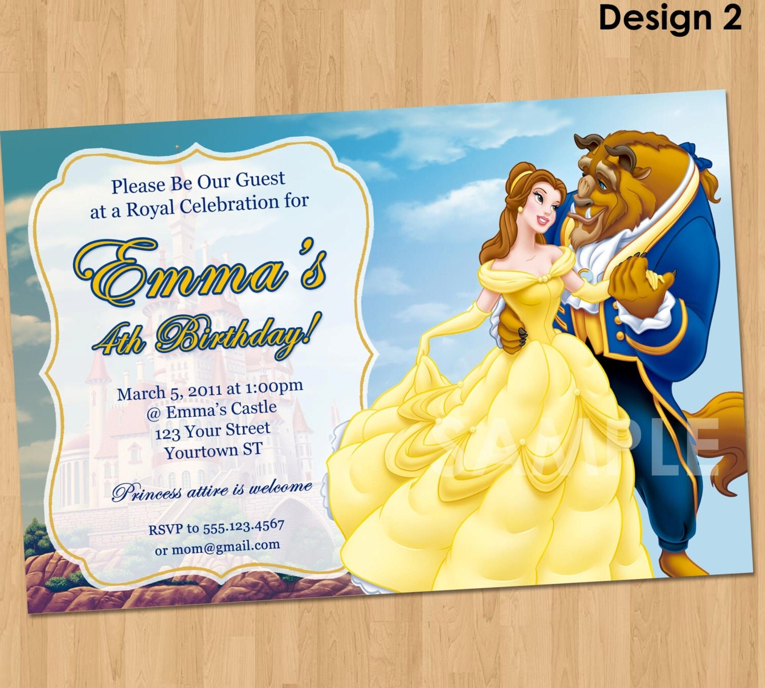 Princess Printable Invitations for luxury invitation ideas