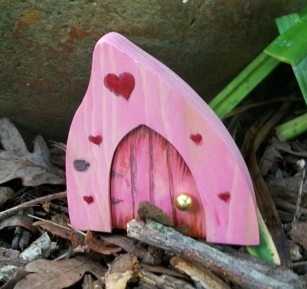 Волшебную дверь 3 1 / 2 дюйма готического типа Top Магические Розовый портал с сердцами
