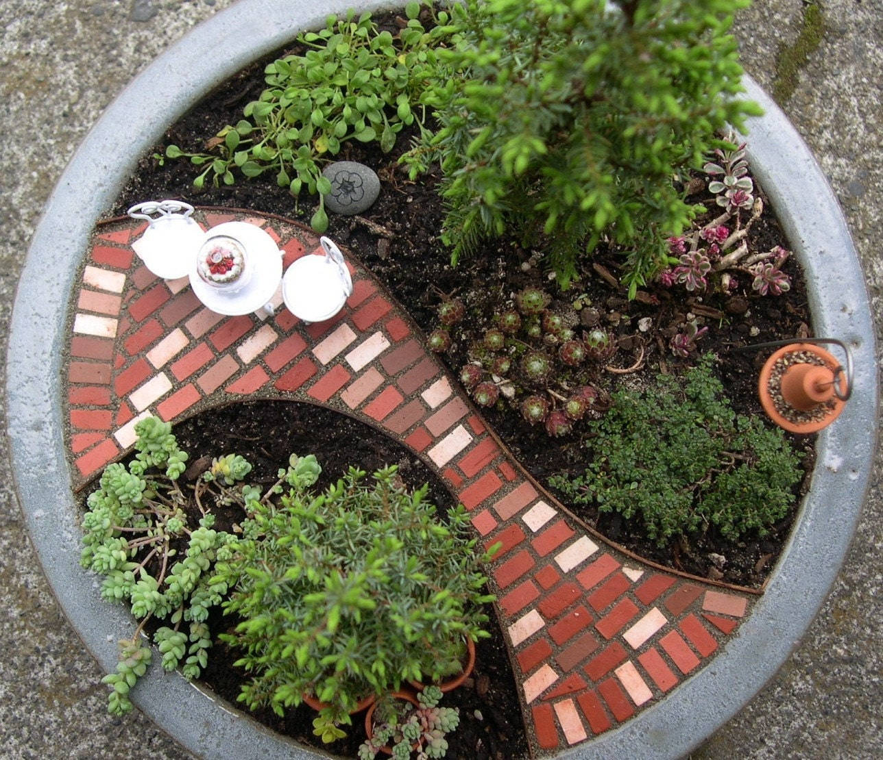 Mini Patio Mix Kit For Miniature or Fairy Gardens Paths by Janit