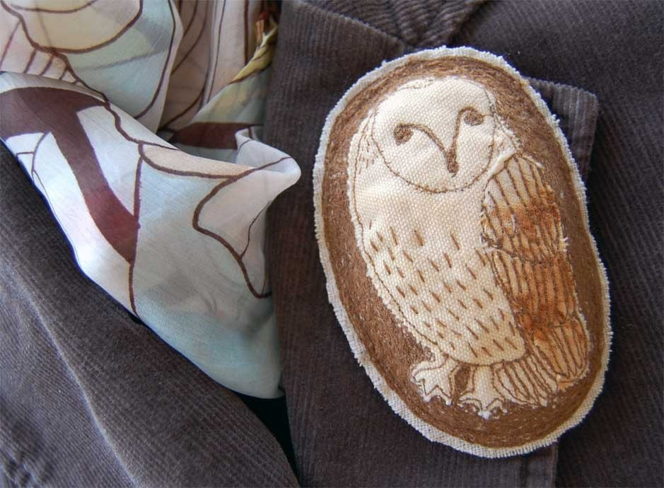 Embroidered Brooch - Barn Owl Large ON SALE