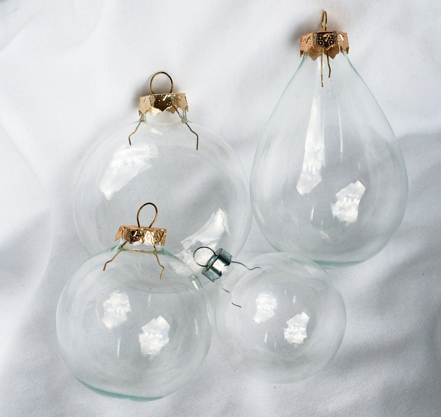 Christmas Ornaments Clear Glass : Clear glass ornaments christmas lights