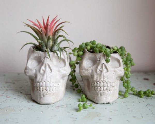 Planter Skull - Halloween, decoración del jardín