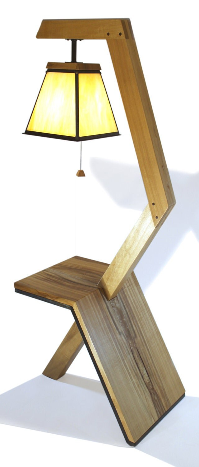 Floor lamp table combo