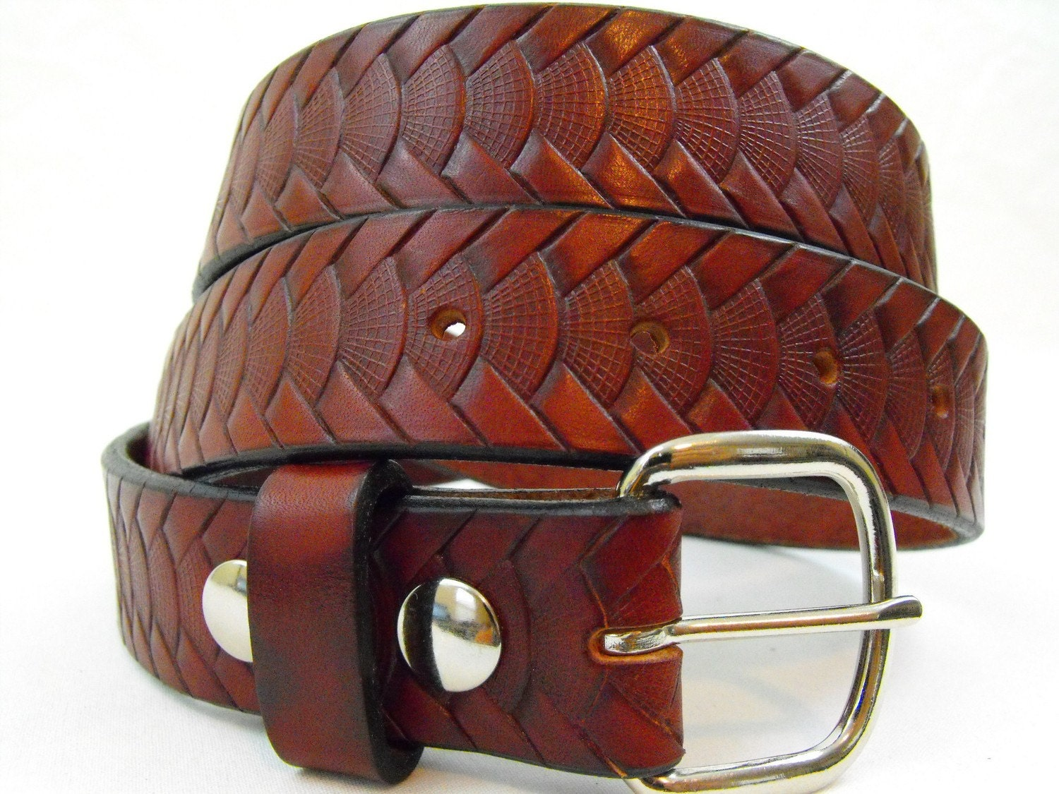 american made leather belt 35mm chestnut by