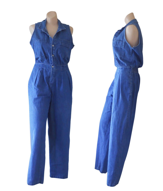 petite jumpsuit women denim jumpsuit one by. Black Bedroom Furniture Sets. Home Design Ideas
