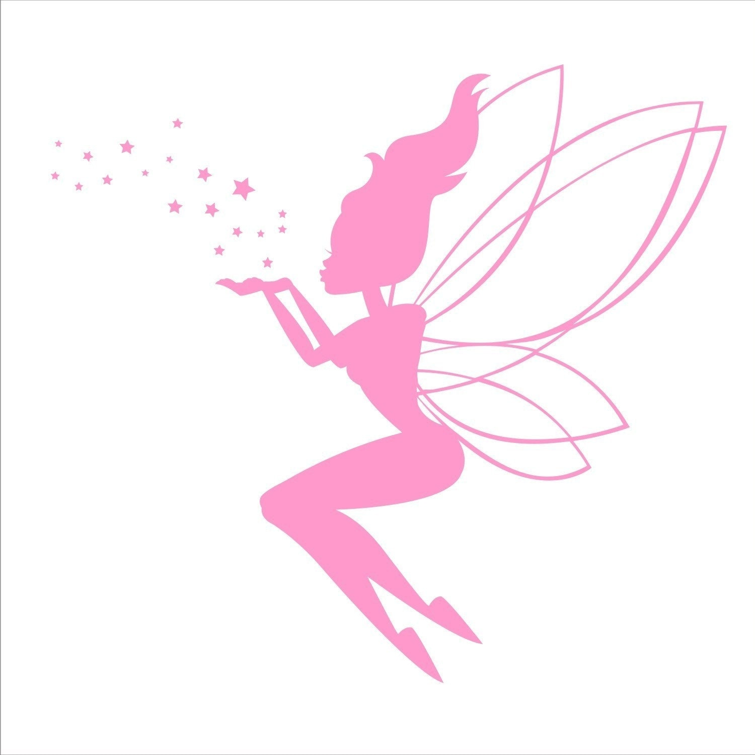 fairy wall decal blowing stars by fairydustdecals on etsy. Black Bedroom Furniture Sets. Home Design Ideas