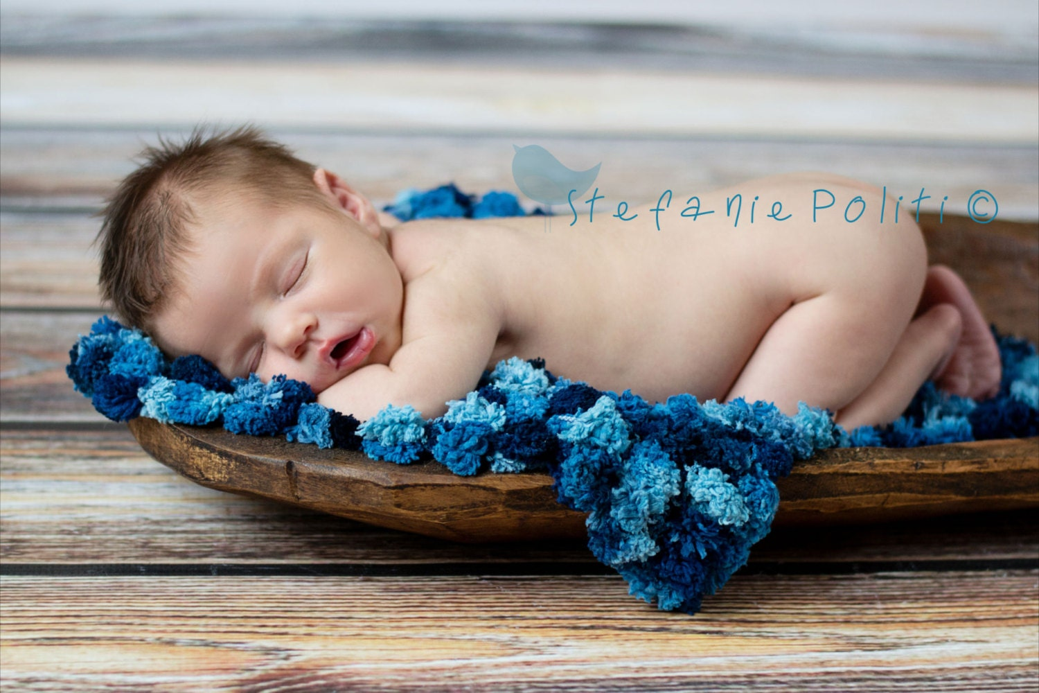Pom Pom Blanket - Bucket Basket Filler - Newborn Photo Prop - Jestti