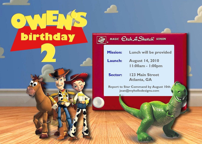 Birthday Invitation: Toy Story