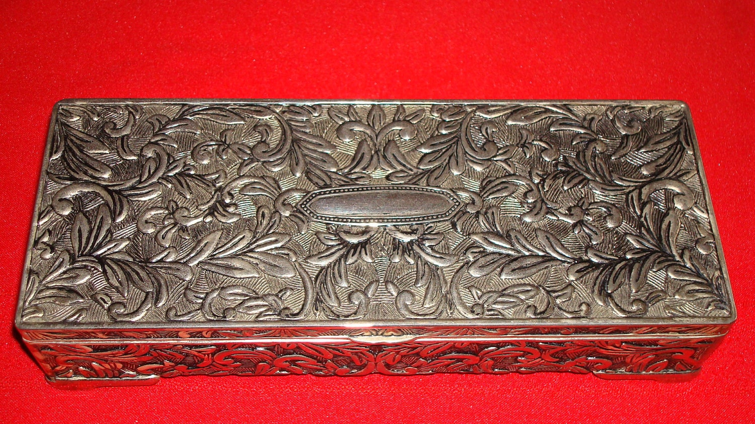 Items Similar To Vintage Godinger Silver Jewelry Box On Etsy