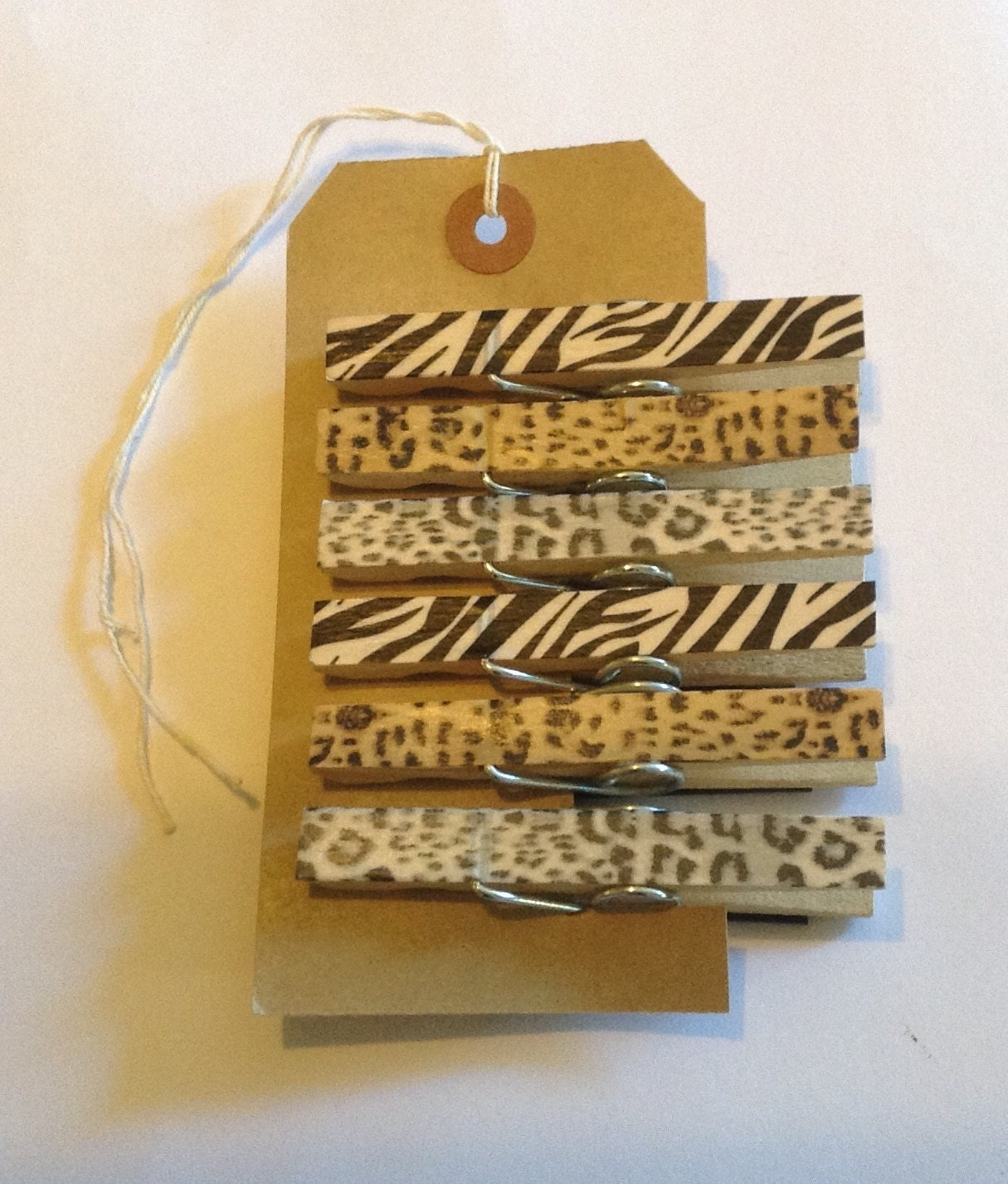 Animal Print Magnet Pegs  Funky HandFinished Magnetic Animal Print Pegs
