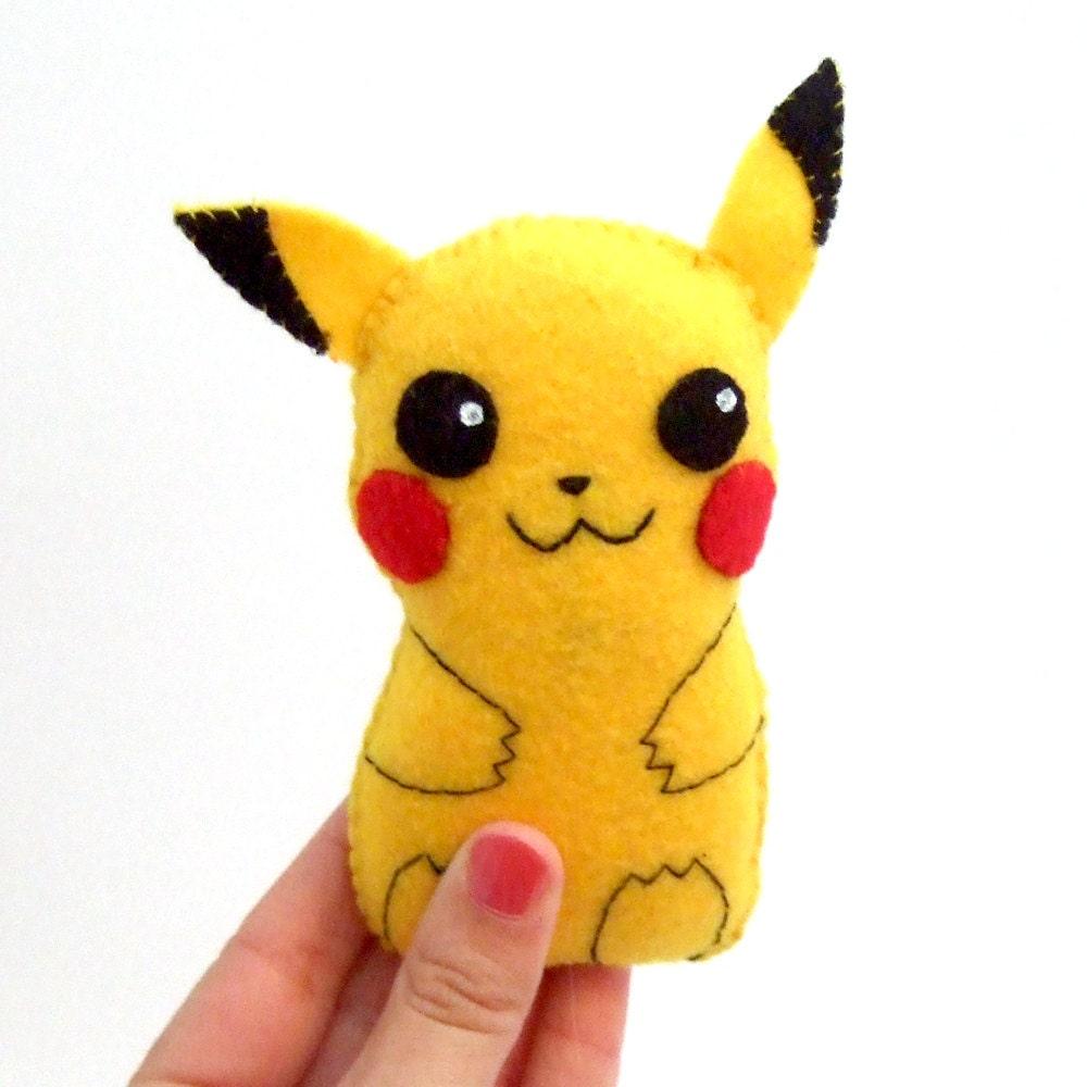 Super Cute Pikachu Felt Plushie By Yael360 On Etsy