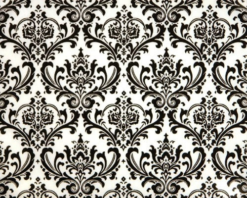 Black and white damask print Madison by whistlestopbedding on Etsy
