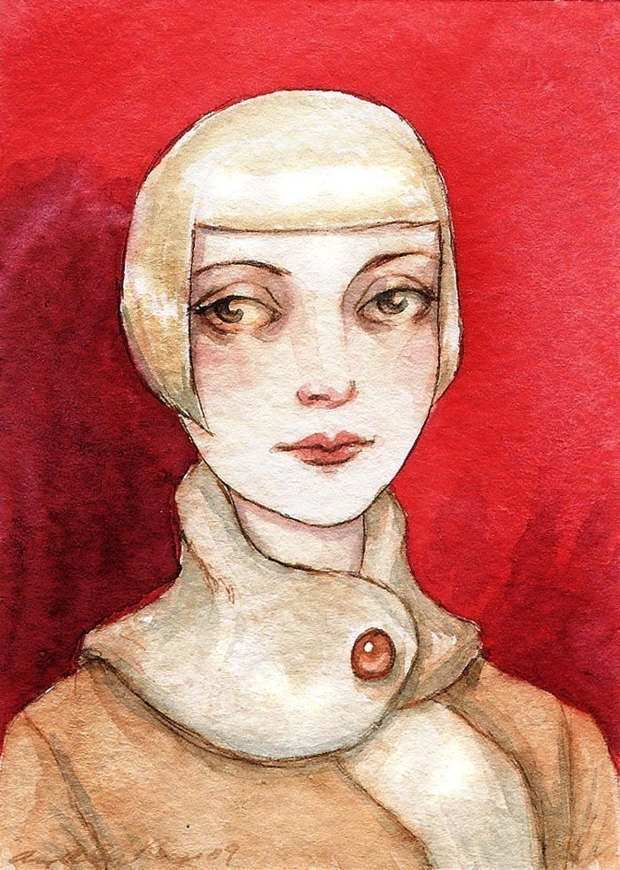 Pale Pale Amber --- ACEO Limited Edition Print by Amy Abshier Reyes 10/30