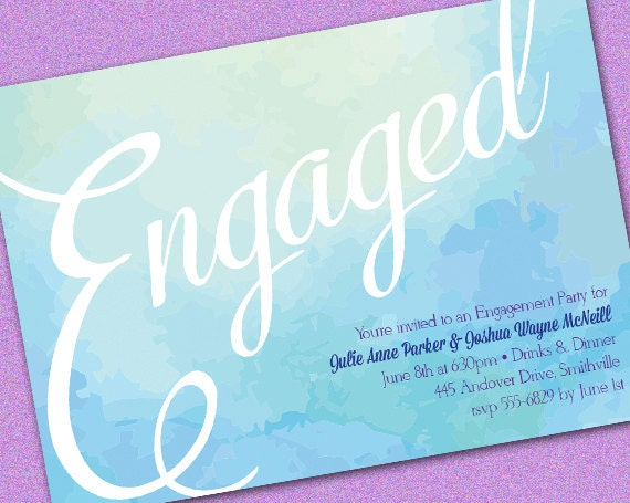 engagement party invitations templates