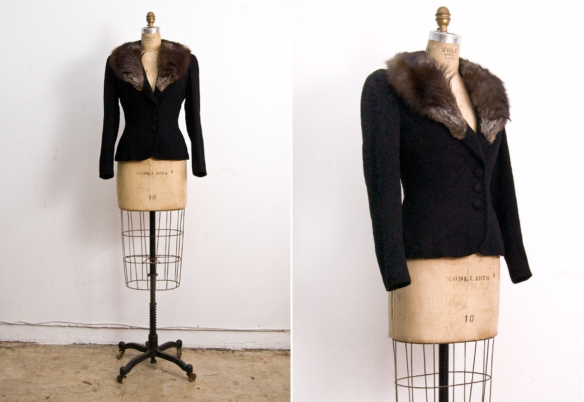 Vintage 1930s fox fur jacket