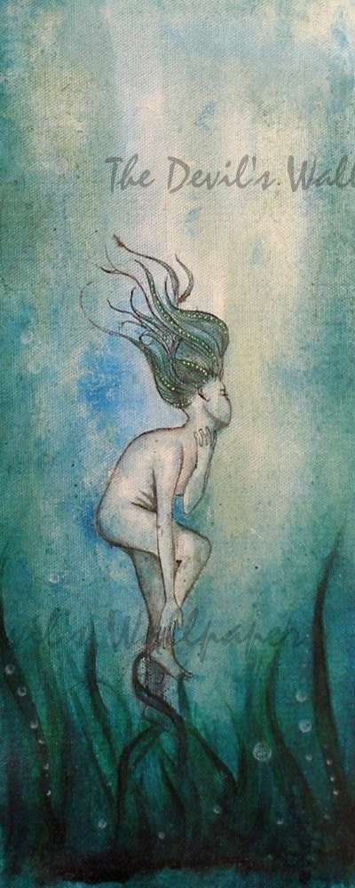 Into the Blue  :  blue etsy mermaid green