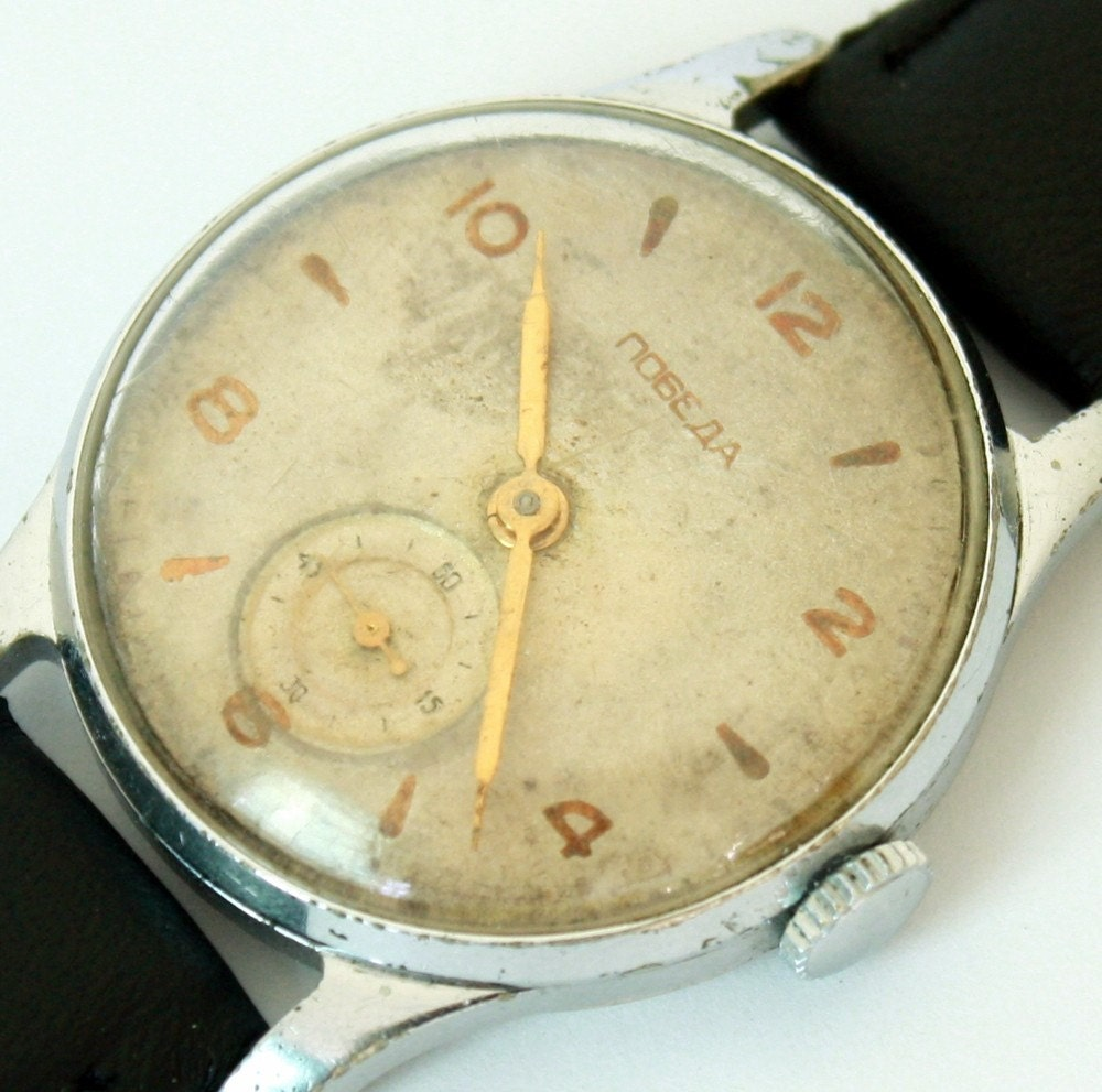 A RARE soviet Russian wristwatch Pobeda from Soviet Union era