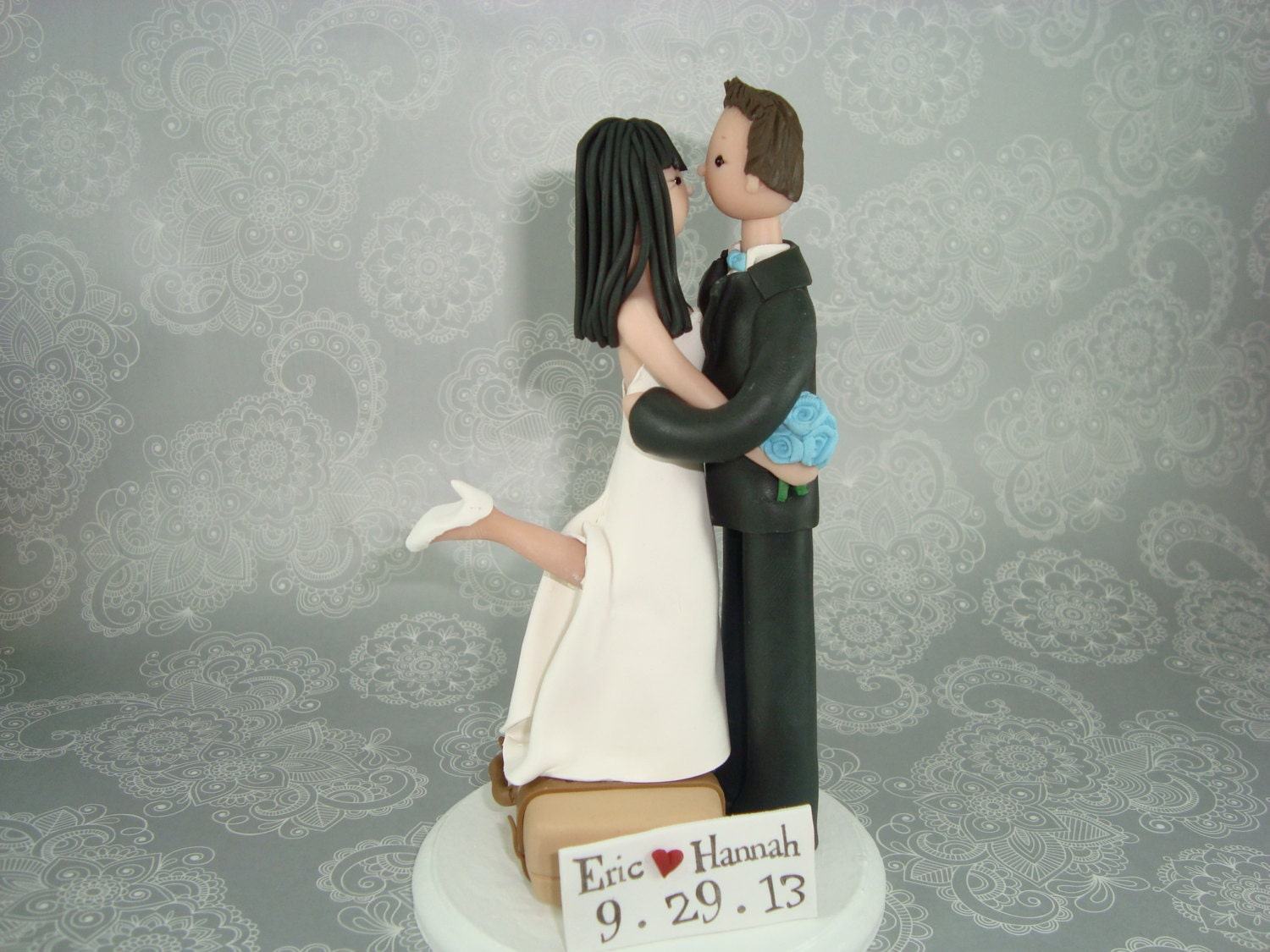 Tall Groom Short Bride Cake Topper Uk