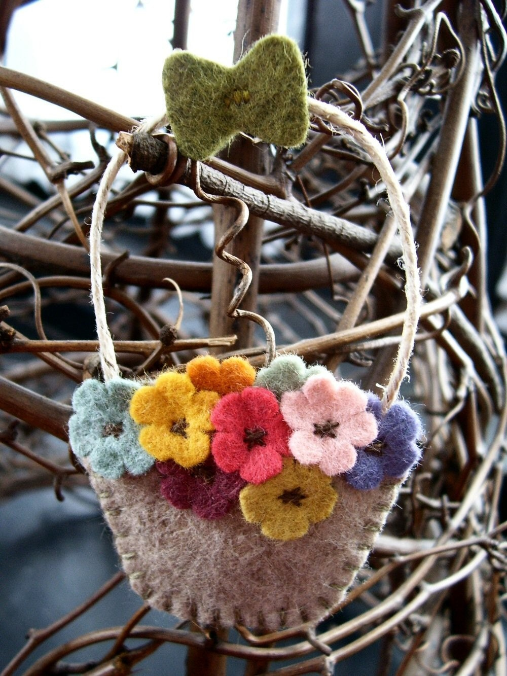 a tisket a tasket... flower basket ornament
