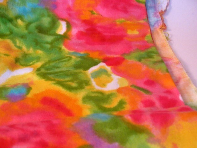 Vintage Colorful Vibrant Cotton Fabric