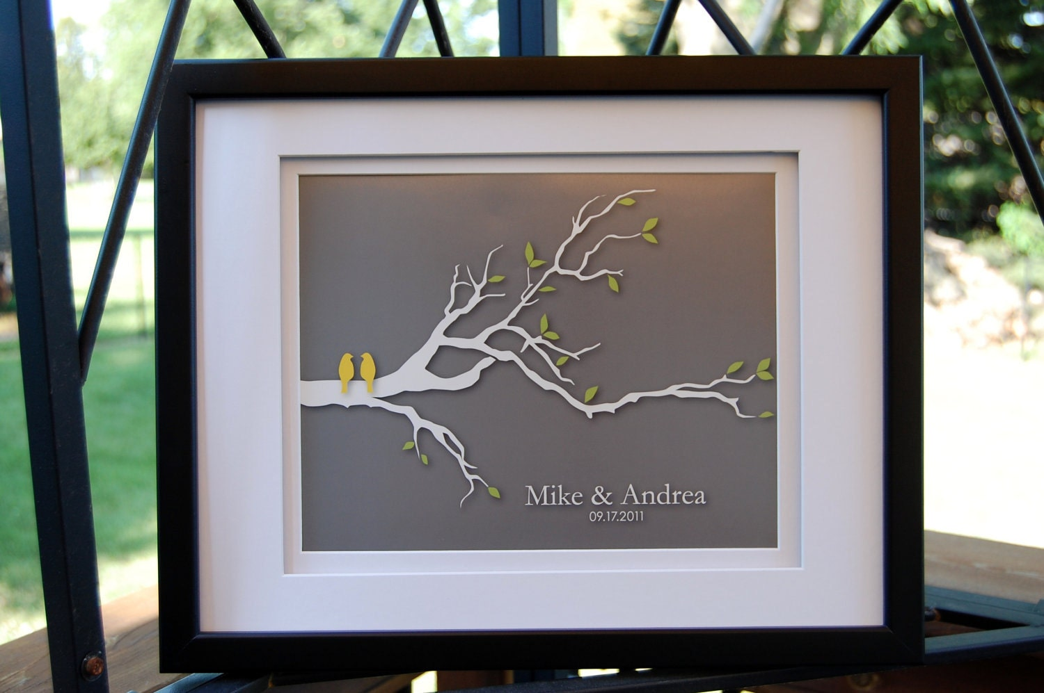 Wedding Gifts For Relatives : Items similar to Modern Family Tree GiftPersonalized Custom Wedding ...
