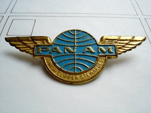 Vintage Pan Am Stewardess Badge