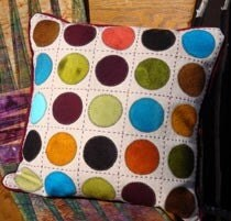 NEW Tick - Tack - Dot Wool Applique Throw Pillow Kit by The Wooly Lady