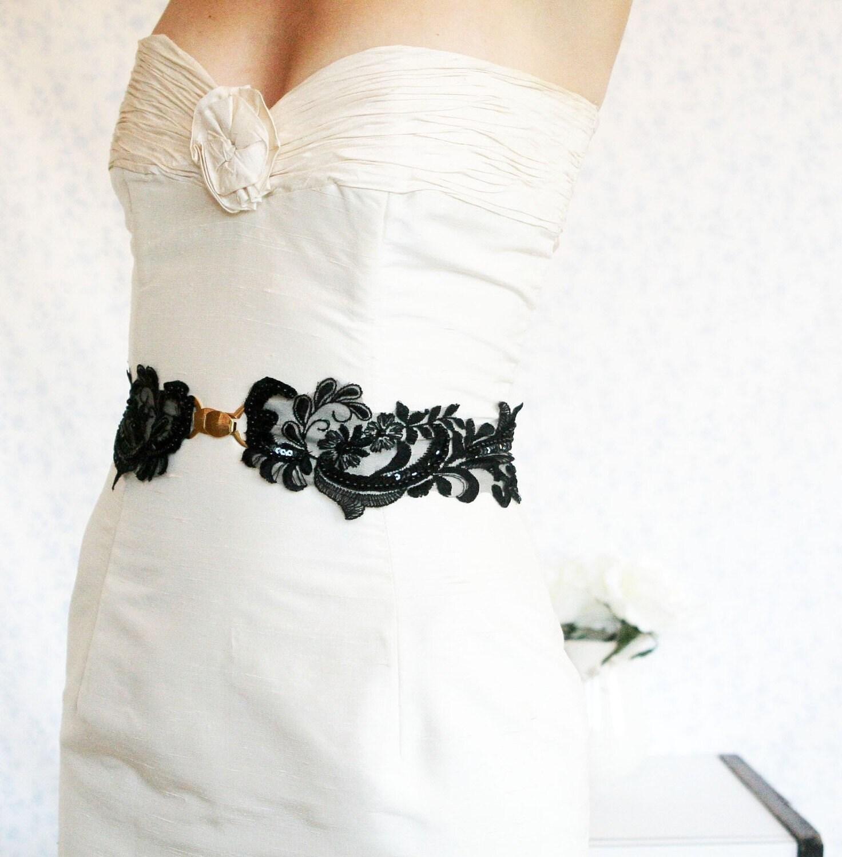 Charlotte's  Black lace sash
