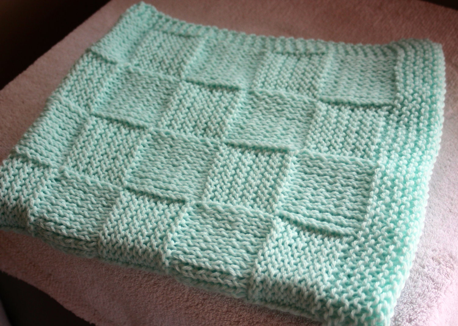 White Basket weave checkerboard pattern baby blanket by Siobhan76