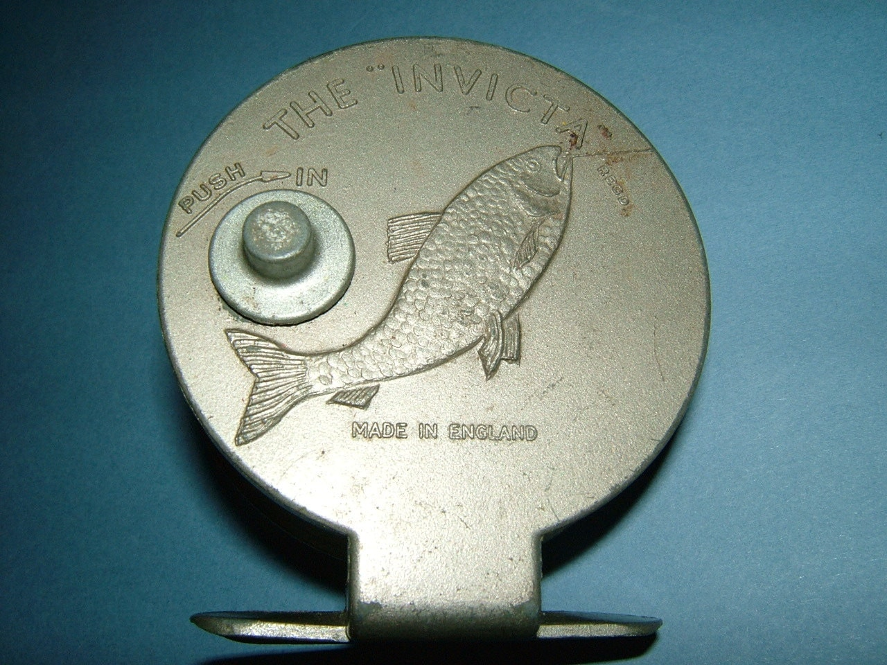 1950s the invicta metal center pin fishing reel by for Center pin fishing