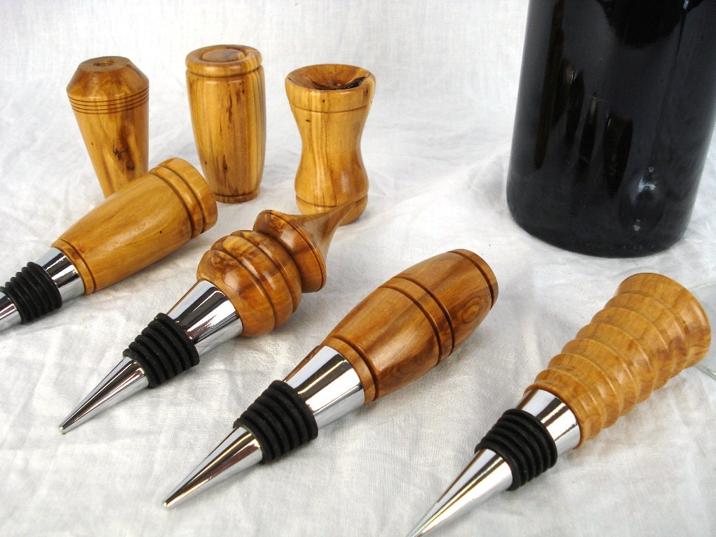 rare wood bottle corks made with reclaimed olive wood