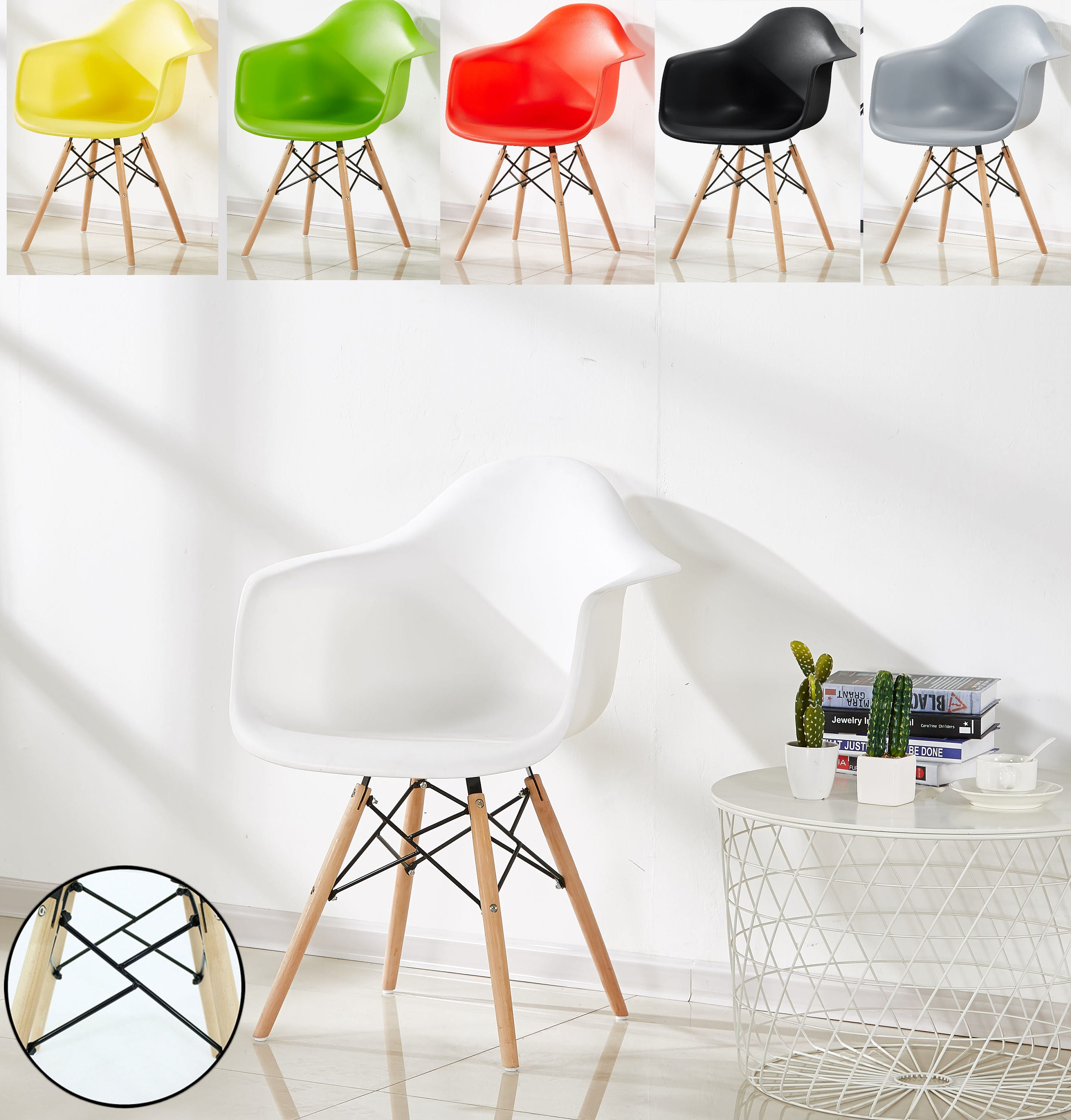 Designer DWS DAW Style Chair design  chaise DAW design scandinave Dining Chair or Office Chair