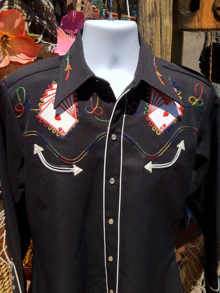 Royal Flush Vintage 60s Mens Rockabilly Western By