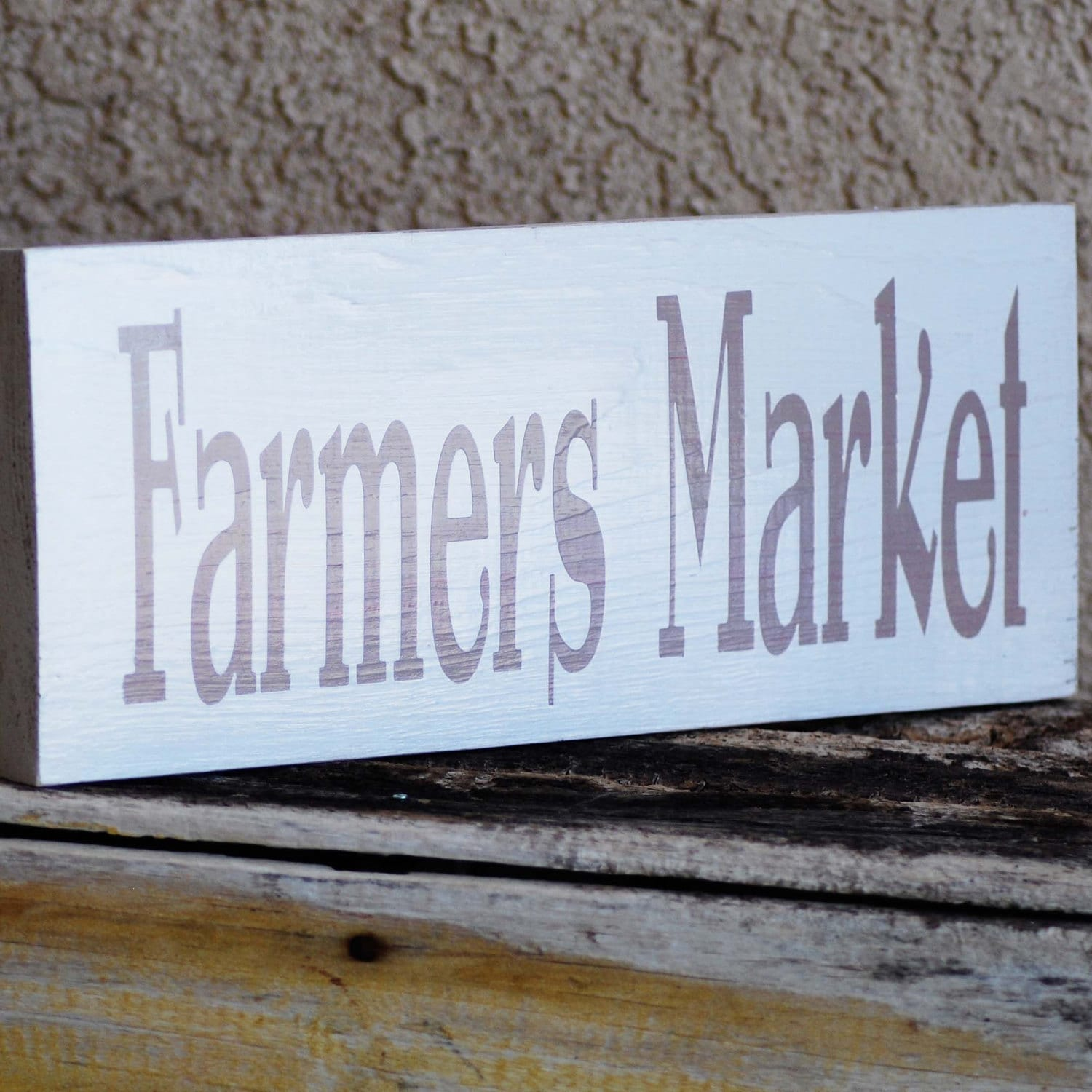 Rustic Kitchen Signs: Farmers Market Sign Rustic Country Kitchen Made By