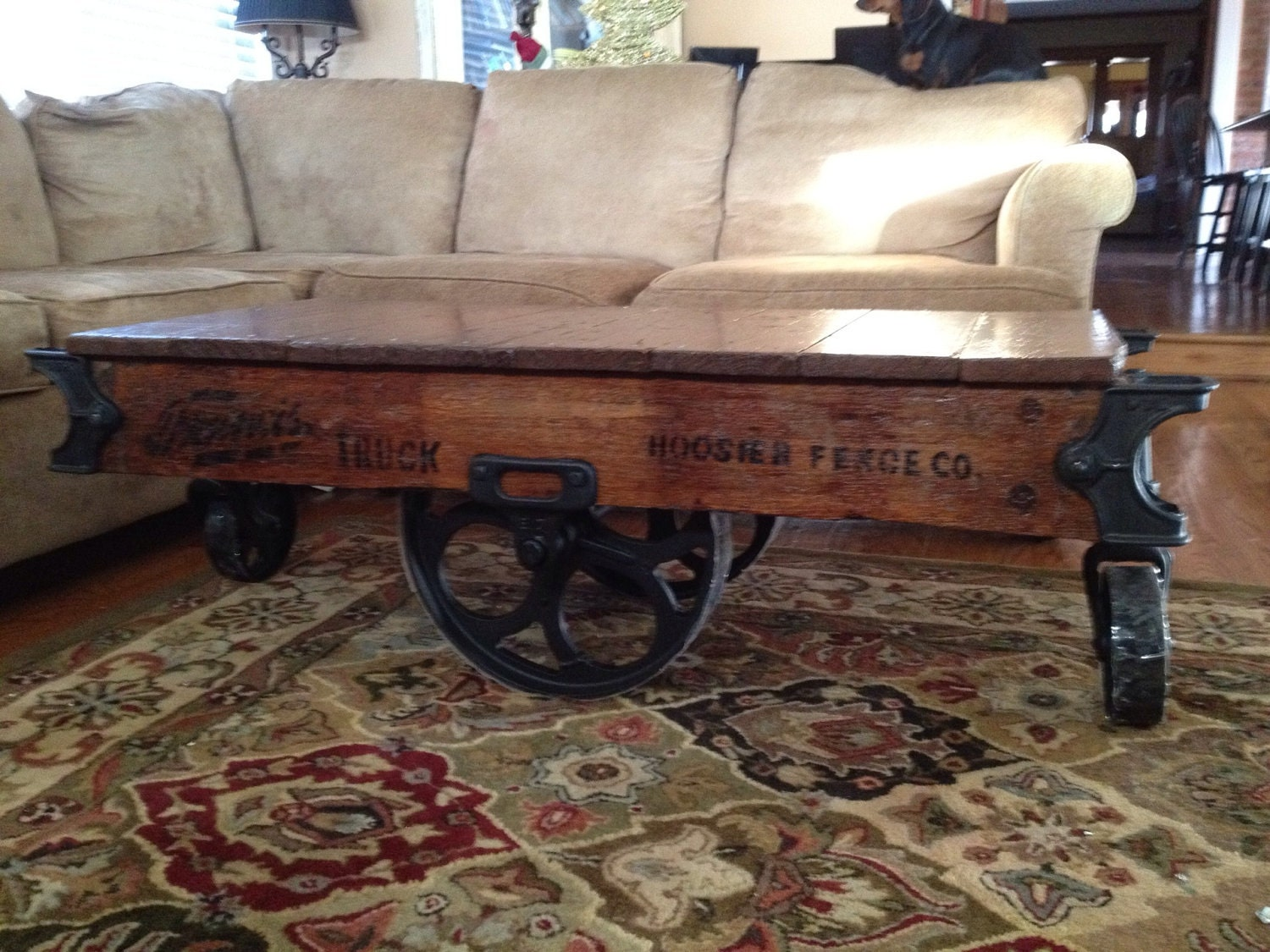 Vintage Factory Cart Coffee Table By Clintcollins On Etsy