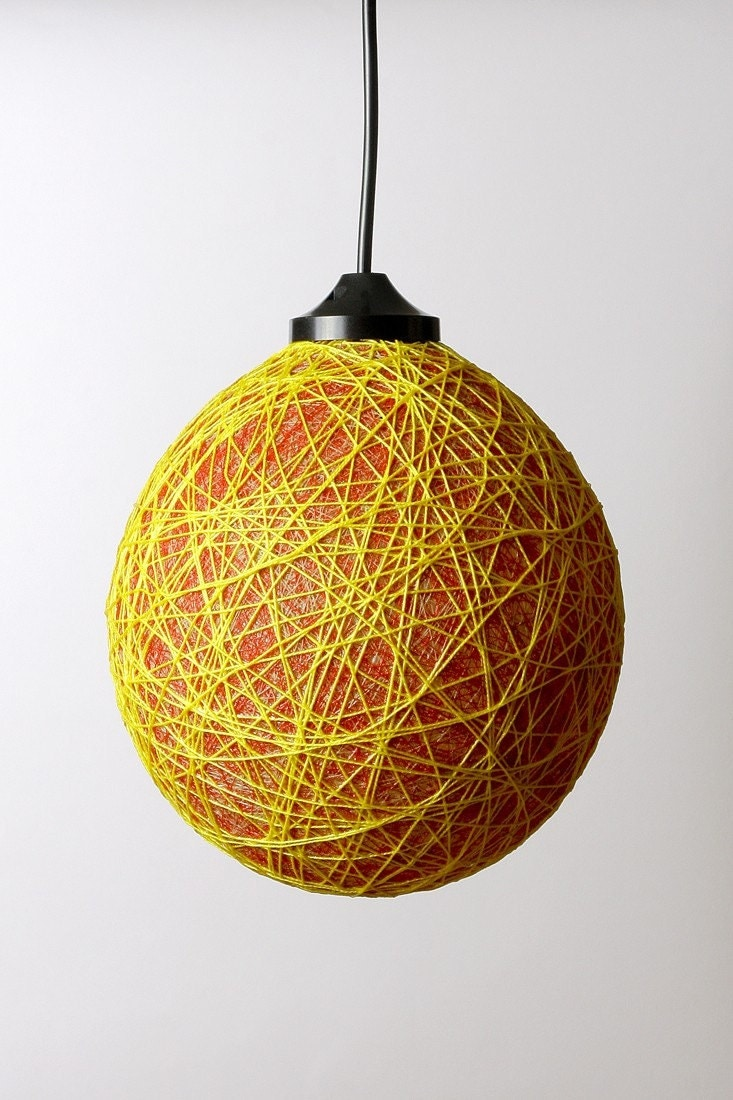 Mini Bubble lampshade Red Yellow mix by FiligreeCreations on Etsy from etsy.com