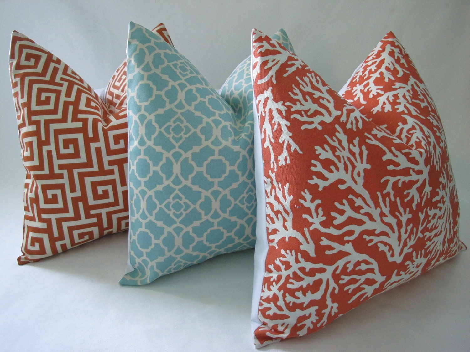 Free US Shipping-Decorative Designer Pillow Cover-Coral Reef In Mandarin