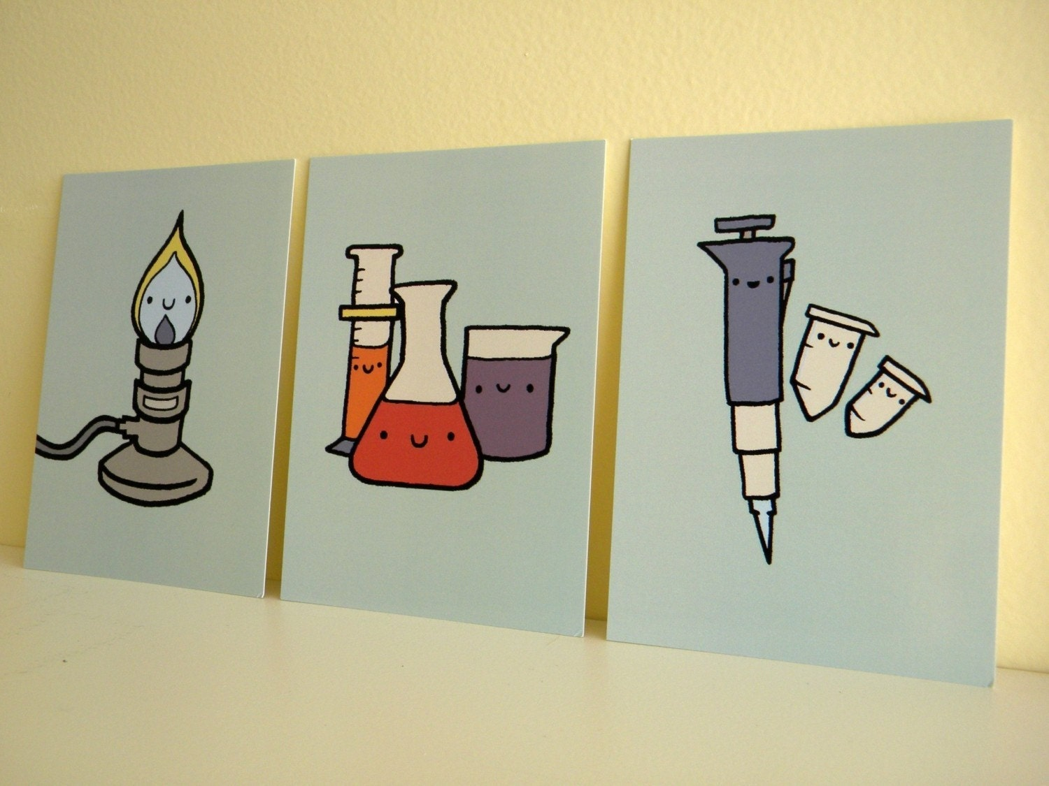 Lab Ware Art Postcards