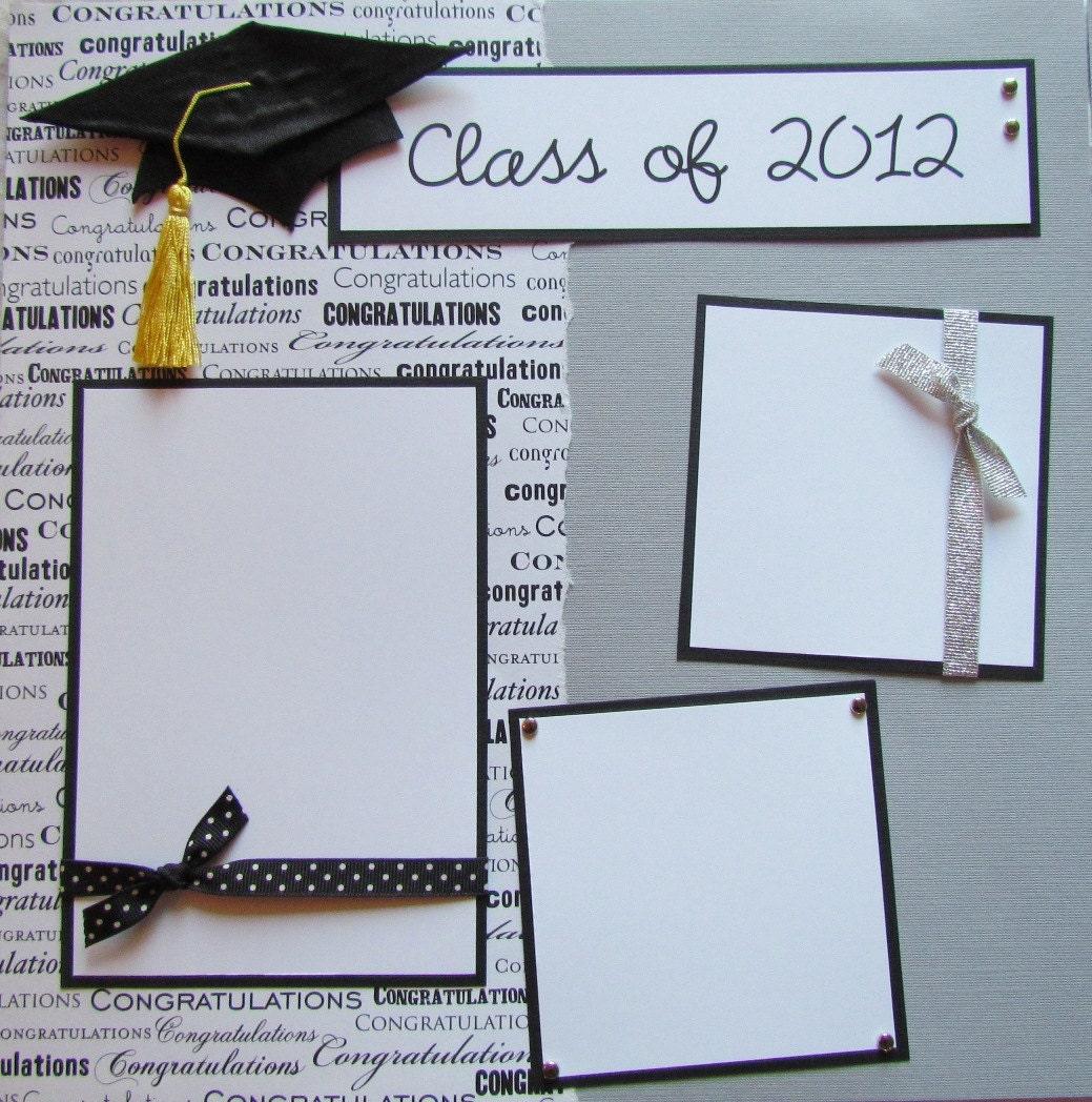 Scrapbook ideas graduation - Class Of 2013 12x12 Premade Scrapbook Pages
